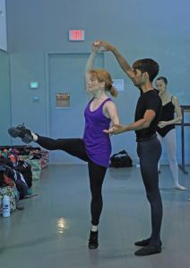 American Repertory Ballet Resident Choreographer Mary Barton teaching class at Princeton Ballet School's Summer Intensive program 2014. Credit: Leighton Chen