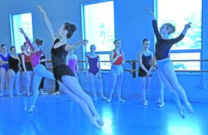 Students in class at Princeton Ballet School's Summer Intensive program 2014. Credit: Leighton Chen